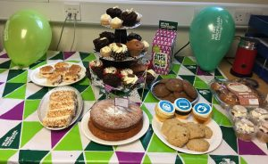In September we enjoyed our MacMillan coffee morning in the PTL office.