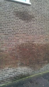 This is a great picture of an external damp issue found on one of our Surveys,