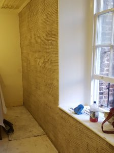 In certain circumstances we are pleased to be able to use Hi-Lime plaster, brilliantly shown in this photo.