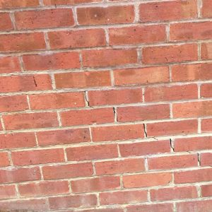 Cracks in the brickwork