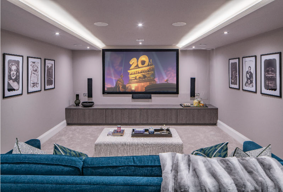 Basement cinema room